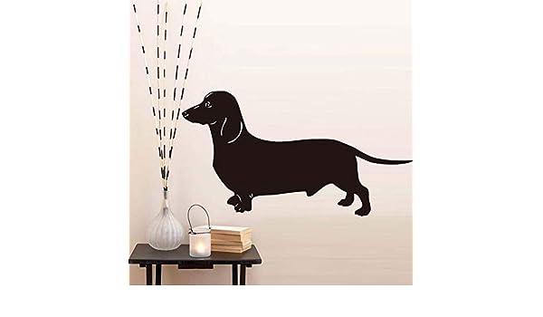 La etiqueta de la pared más popular del perro salchicha grueso para la habitación de los niños papel tapiz de vinilo decoración del hogar 58 * 31 cm: Amazon.es: Bebé