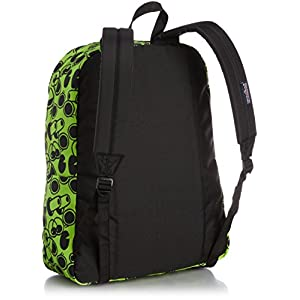 JanSport Superbreak Backpack (Zap Green Double Vision)