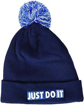 Nike Y Nk Beanie Pom Gorra, Unisex niños, Blue Void/White, Talla ...