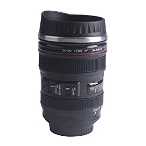 Camera Coffee Mug Lens Travel Thermos Cup with lid for Coffee Tea Gift