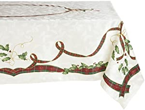 Amazon.com: Lenox Holiday Nouveau Tablecloth, 60 by-140-Inch ...