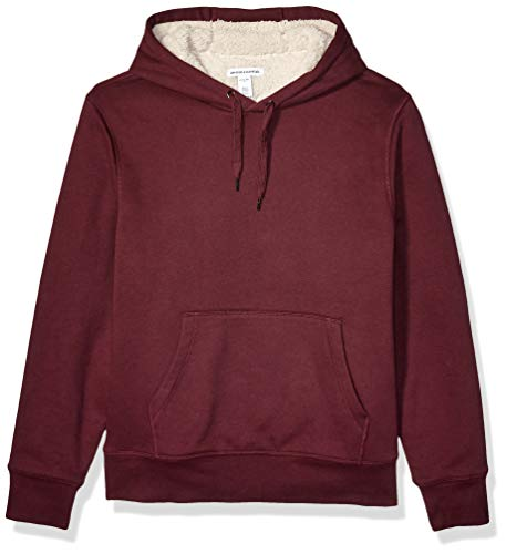 Amazon Essentials Men's Standard Sherpa-Lined Pullover Hoodie Sweatshirt