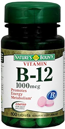Nature s Bounty Vitamin B-12 1000 mcg Tablets 100 ea Pack of 7