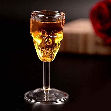 Botella de Whisky Con Vaso 2 PCS Creative Skull Skeleton Copa De Vino Copa De Vino Dibujos De Vino Vodka Vodka Whiskey Shothing Ware Wine Copa De Vino Copa Centro De Piezas Accesorio Botella de Whisky