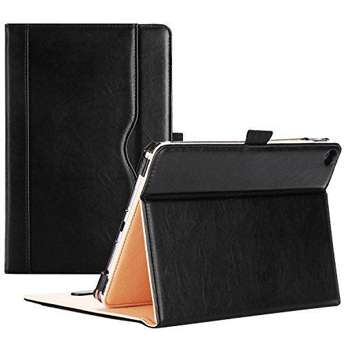 ProCase Verizon ASUS ZenPad Z8s Case - Stand Cover Folio Case for Asus Zenpad Z8s ZT582KL ASUS-P00J 4G LTE Tablet (2017 Released) -Black