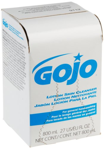 GOJO 800 Series Lotion Soap Skin Cleanser, Light Floral Scent, 800 mL Lotion Soap Refill for Bag-in-Box Soap Dispenser (Case of 12) - ()