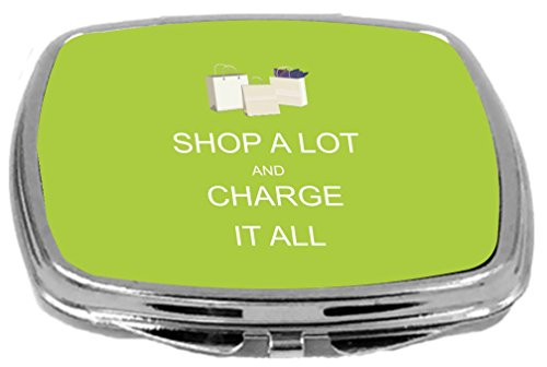 Rikki Knight Compact Mirror, Shop a Lot and Charge It All...