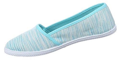 Damen Halbschuhe Schuhe Slipper Sneakers Freizeitschuhe schwarz braun blau Orange rot 36 37 38 39 40 41 Blau