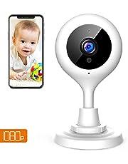 Capacidad 1080p Cámara de vigilancia WiFi Interior, Cámara IP inalámbrica, visión Nocturna de Infrarrojos, Audio Bidireccional, Sensor de Movimiento