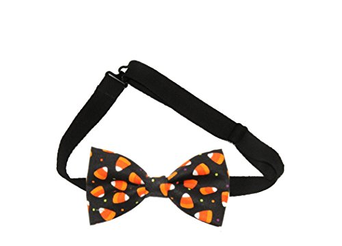 Mens Candy Corn Halloween Pre-Tied Cotton Bow Tie On Adjustable Twill Strap