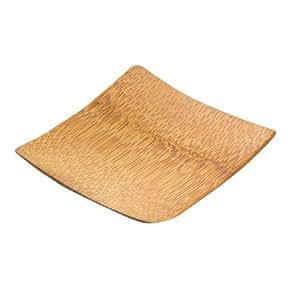"PackNWood 209BBKRABI Krabi 2.4"" Mini Bamboo Dish - 144 / CS"
