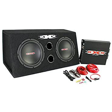 XXX XBX-800B 2) DUAL 8 800W Car Audio Subwoofers Subs/Amplifier/Amp Kit/Sub Box