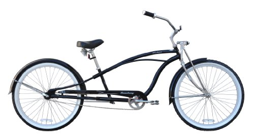 Deluxe Cruiser - Firmstrong Urban Man Deluxe Single Speed Stretch Beach Cruiser Bicycle, 26-Inch, Black