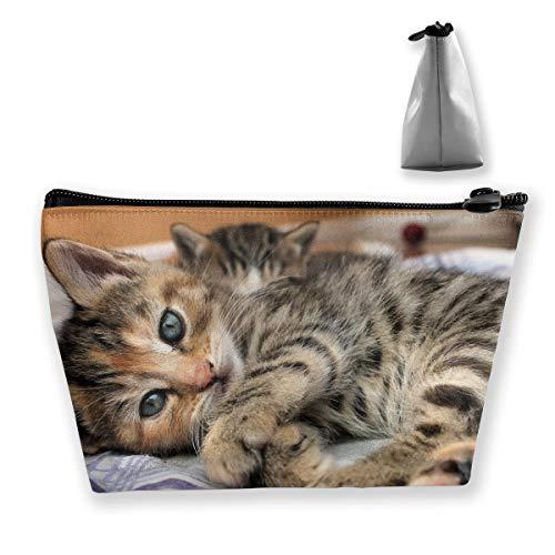 CORPDA Babies, Cats, Cute, Eyes, Face, Feline, Kittens, POV Travel Cosmetic Bag Storage ()