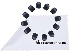 The Friendly Swede Juego de 3 Lápices Táctiles de Punta Fina para Pantalla Táctil + 3 Puntas de Repuesto + 3 Cordones Elásticos de 38 cm + 1 Gamuza Limpiadora en Microfibra - GARANTÍA DE POR VIDA