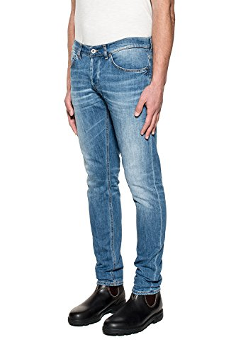 Dondup Homme UP232DS107UO27T Bleu Coton Jeans