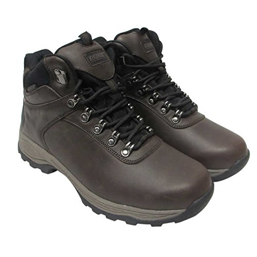 Khombu Men's Leather Boot Brown Hiker Ravine Waterproof (Best Khombu Waterproof Hiking Boots)