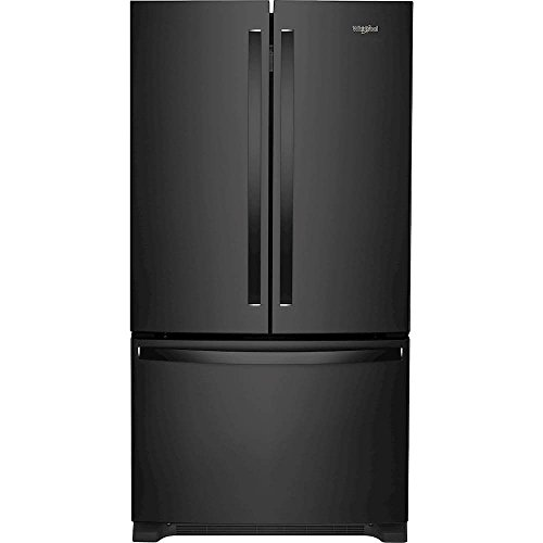 (Whirlpool WRF540CWHB 20 Cu. Ft. Black Counter Depth French Door Refrigerator)