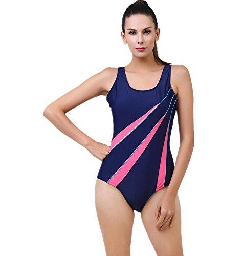 MIAO Traje de baño de una pieza del balneario del balneario del halter atractivo femenino del traje de baño del deporte del bikiní Blue