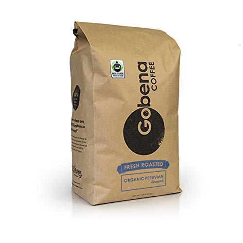 Fair Trade Organic Peruvian Ground 5 lb. Fresh Roasted Specialty Coffee by Gobena