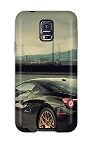 Anti-scratch And Shatterproof Amazing Black Car S Phone Case For Galaxy S5/ High Quality Tpu Case