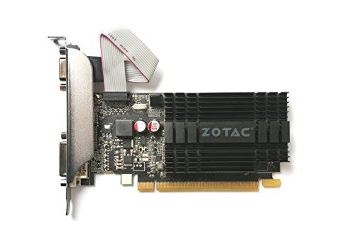 ZOTAC GeForce GT 710 2GB DDR3 PCI-E2.0 DL-DVI VGA HDMI Passive Cooled Single Slot Low Profile Graphics Card (ZT-71302-20L) by ZOTAC (Image #1)