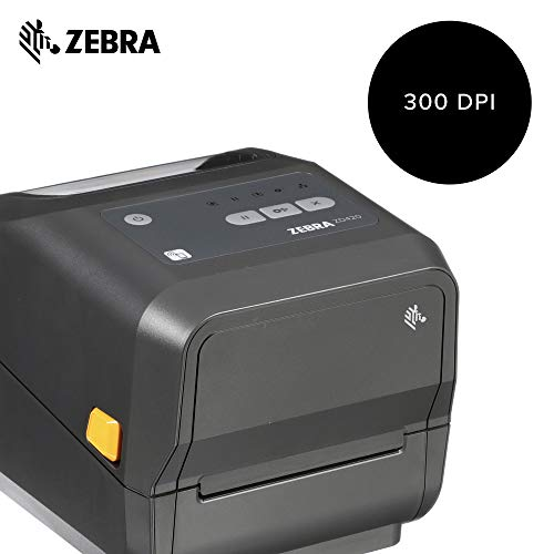 Zebra - ZD420d Direct Thermal Desktop Printer for Labels and Barcodes - Print Width 4 in - 203 dpi - Interface: USB, Ethernet - ZD42042-D01E00EZ by Zebra Technologies (Image #1)