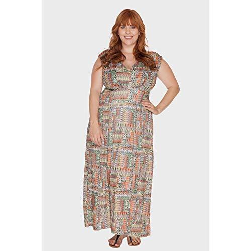 Vestido Longo Graceful Plus Size Laranja-48/50