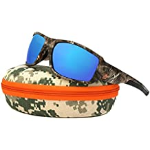 Polarized Sport Sunglasses Camouflage Designer - Unbreakable TR90 frame for Golf Baseball Volleyball Fishing Cycling Driving Running Glasses