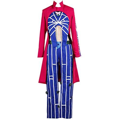 Anime Jolyne Kujo Cosplay Costume Mens Jacket Uniform Outfits Costume Halloween (L) Red