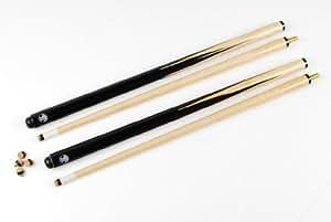 Jonny 8 Ball - Juego de 2 palos de billar de 2 piezas (91,4 cm, punta de 11 mm)