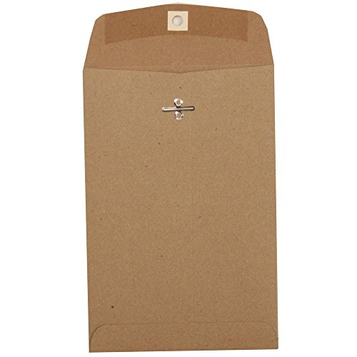 "JAM Paper 6"" x 9"" Open End Catalog Envelopes with Clasp Closure - Brown Kraft - 10/pack"