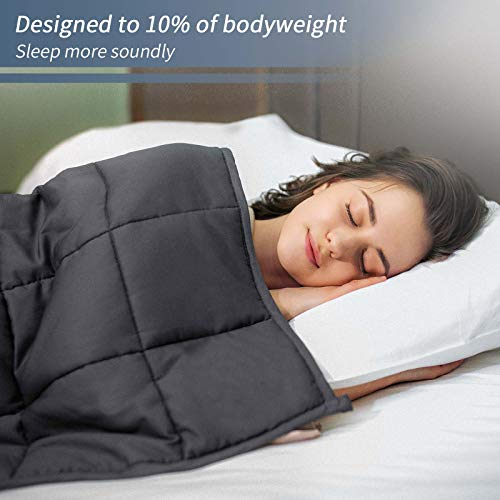 A weighted blanket helps reduce stress and anxiety