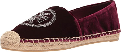 Tory Burch Velvet Logo Chain Espadrille Flats, Bordeaux - Tory Sale Us Burch