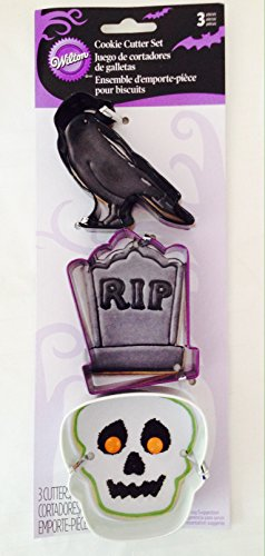 Wilton Cookie Cutter Set - Raven, Skull and Tombstone