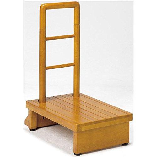 天然木手すり付き玄関踏み台 ナチュラルブラウン 100cm幅 B07BFWRFJ4 100cm幅 100cm幅