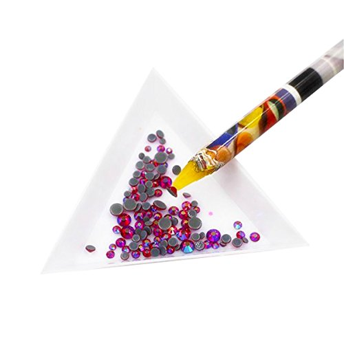 Jewel Tool (Beadthoven 2pcs Nail Art Rhinestones Picking Tools, Rhinestone Picker Pencil, Picking Pencil, Rhinestone Picker, Rhinestone Pickup Tool, Mixed Color)