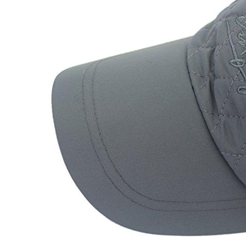 Pareja Plegable béisbol Gorras Outfly Sombreros de Plaid Gris Earflaps Estilo Iwv0O