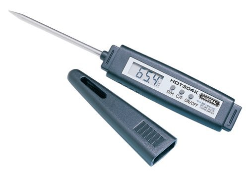 General Tools HDT303K Deluxe Digital Stem Thermometer
