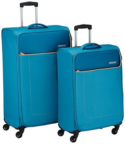 American Tourister Funshine Set 2 Spinner Set di Valigie, Poliestere, Blue Ocean, 99.5 litri, 79 cm