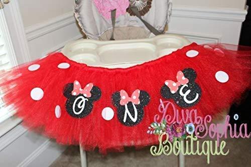 Red Minnie Mouse High Chair Tutu