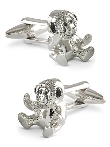 ZAUNICK Monkey Cufflinks Sterling Silver by ZAUNICK