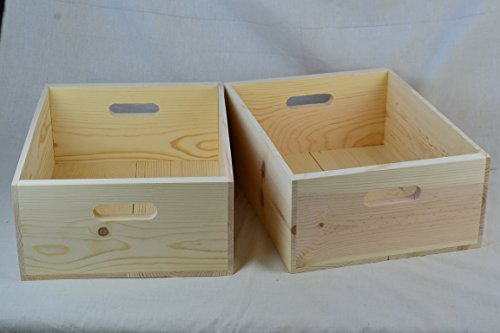 Western Pine Boxes 16x12x6 with hand holes (Qty.2)