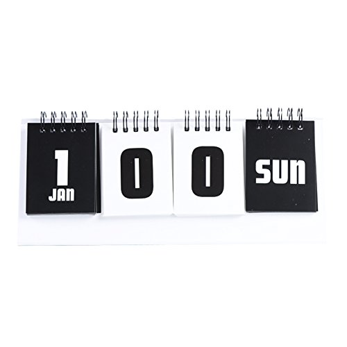 Fitlyiee Count Down Reversible 2 Models D-Day desk calendar Creative Coil Perpetual desk calendar ()