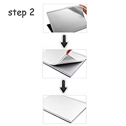Masino® Set of 4 Body Protector Full Protective Skin Decal Cover for Microsoft Surface Book ( Decal- Silver Color Set of 4)