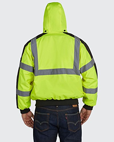 Utility Pro UHV575X-3XL UHV575 High-Vis Bomber Jacket with Removable Fleece Liner and Waterproof DuPont Teflon, Lime, 3X-Large, Yellow 2