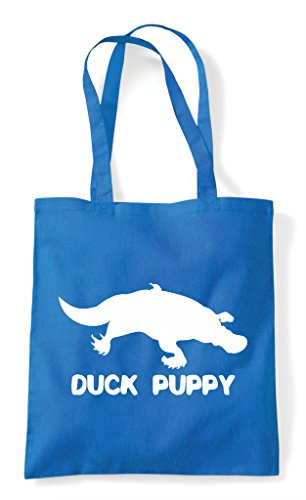 Sapphire Puppy Cute Alternative Shopper Funny Themed Animal Names Tote Bag Platypus Duck PtqZwCq