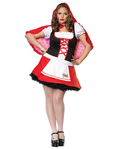 Plus Size Red Riding Hood Costume LaceUp Mini Dress Storybook Fairytail Costume Sizes: -