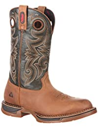 Mens western boots amazon mens 12 long range waterproof western boot rkw0188 reheart Image collections