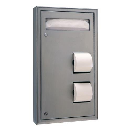 Classic Series Surface Mounted Toilet (Bobrick B-3479 Toilet Paper Dispenser, 17 3/16